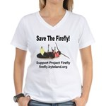 Save The Firefly Women's V-Neck T-Shirt
