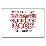 Earthquake or did I just ROCK Banner