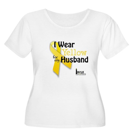 Yellow for Husband Women's Plus Size Scoop Neck T-