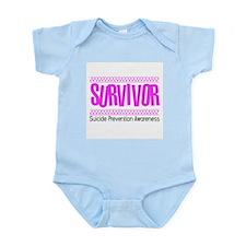 Pink Survivor Infant Bodysuit