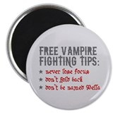 "Vampire Fighting Tips 2.25"" Magnet (10 pack)"