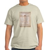 Vitruvian Man by Leonardo T-Shirt