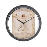 Vitruvian Man by Leonardo Wall Clock