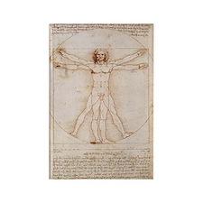 Vitruvian Man by Leonardo Rectangle Magnet