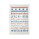 """Welcome USA"" Rectangle Magnet"