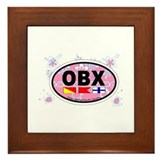 Outer Banks NC - Oval Design Framed Tile