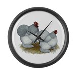 Cochins: Self Blue Large Wall Clock