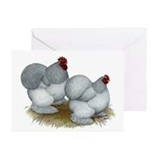 Cochins: Self Blue Greeting Cards (Pk of 20)