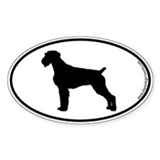 German Wirehair SILHOUETTE Oval Decal