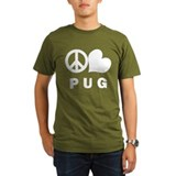 Peace Love Pug T-Shirt
