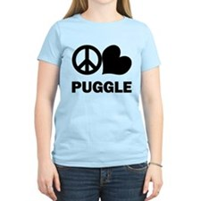 Peace Love Puggle T-Shirt