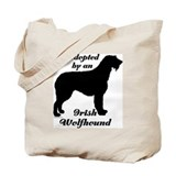 ADOPTED by Irish Wolfhound Tote Bag