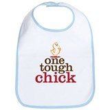 Cute One tough chick Bib