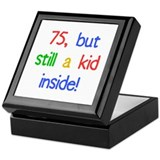 Fun 75th Birthday Humor Keepsake Box
