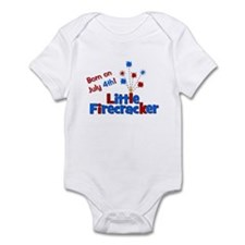 Born on July 4th Little Firec Infant Bodysuit