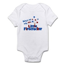 Baby's 1st July 4th! Little F Infant Bodysuit