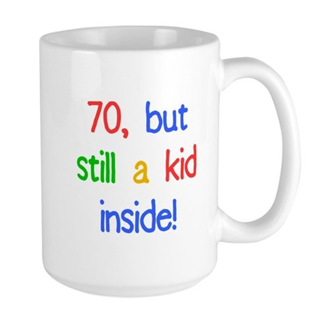Fun 70th Birthday Humor Large Mug