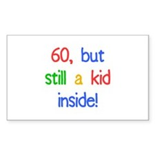 Fun 60th Birthday Humor Decal
