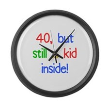 Fun 40th Birthday Humor Large Wall Clock