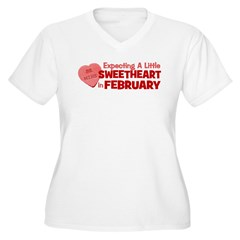 Little Sweetheart February Women's Plus Size V-Nec