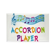 Musical Accordion Player Rectangle Magnet