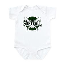 SOFTBALL *1* {green} Infant Bodysuit