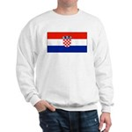 Croatia Blank Flag Sweatshirt