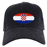 Croatia Blank Flag Black Cap