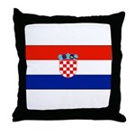 Croatia Blank Flag Throw Pillow