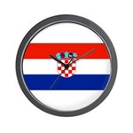 Croatia Blank Flag Wall Clock