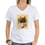 Bald Muff Tumbler Women's V-Neck T-Shirt