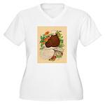 Bald Muff Tumbler Women's Plus Size V-Neck T-Shirt