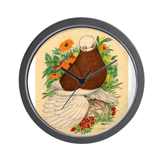 Bald Muff Tumbler Wall Clock
