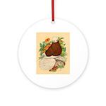 Bald Muff Tumbler Ornament (Round)