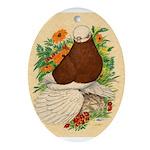 Bald Muff Tumbler Ornament (Oval)