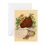 Bald Muff Tumbler Greeting Cards (Pk of 10)