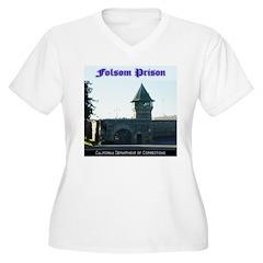Folsom Prison Women's Plus Size V-Neck T-Shirt