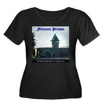 Folsom Prison Women's Plus Size Scoop Neck Dark T-