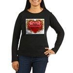 Kafka - On Books Women's Long Sleeve Dark T-Shirt