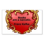 Kafka - On Books Sticker (Rectangle 50 pk)