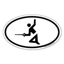 Fencing Euro Oval Decal