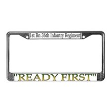 1st Bn 36th Inf License Plate Frame