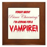 Looking for a vampire! Framed Tile