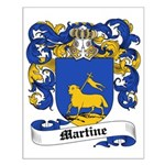 Martine Coat of Arms Small Poster