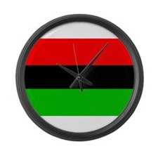 African American Flag Large Wall Clock