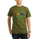 Rainbow Shamrock Lucky Charms Organic Men's T-Shirt (dark)