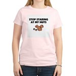 Stop Staring at My Nuts Women's Light T-Shirt
