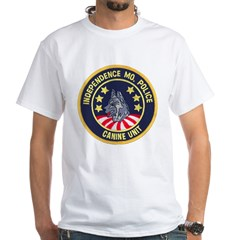 Independence Police K9 White T-Shirt