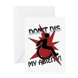 """Disable This!"" Blank Greeting Card"