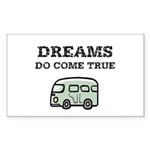 Dreams Do Come True Sticker (Rectangle 50 pk)